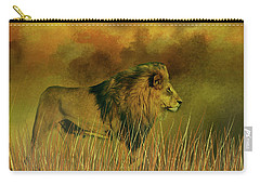 Lion In The Mist Carry-all Pouch by Diane Schuster