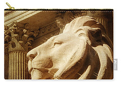 Lion In The Sun Carry-all Pouch by Jon Woodhams