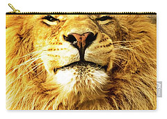 Carry-all Pouch featuring the photograph Lion King 1 by Ayasha Loya