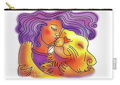 Lion Kiss Carry-all Pouch by Angela Treat Lyon