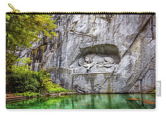 Lion Of Lucerne Carry-all Pouch by Carol Japp