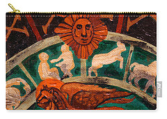 Carry-all Pouch featuring the painting Lion Of St. Mark by Genevieve Esson
