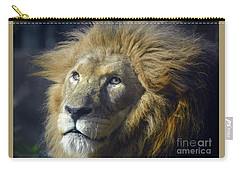 Carry-all Pouch featuring the photograph Lion Portrait by Savannah Gibbs