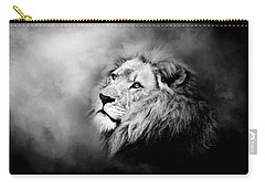 Lion - Pride Of Africa II - Tribute To Cecil In Black And White Carry-all Pouch