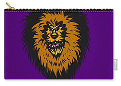 Lion Roar Purple Carry-all Pouch