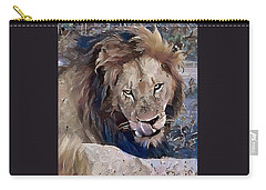Lion With Tongue Carry-all Pouch