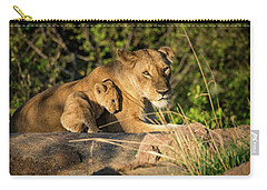 Lioness And Cub 1203 Carry-all Pouch by Janis Knight