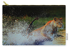 Lioness In Motion Carry-all Pouch