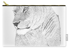 Lioness Carry-all Pouch by Patricia Hiltz