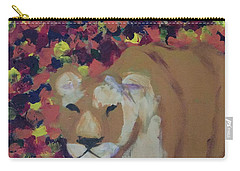 Carry-all Pouch featuring the painting Lioness Pride 1 Of 6 by Donald J Ryker III