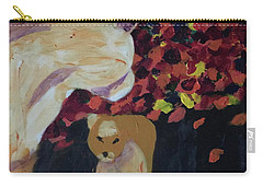 Carry-all Pouch featuring the painting Lioness' Pride 3 Of 6 by Donald J Ryker III