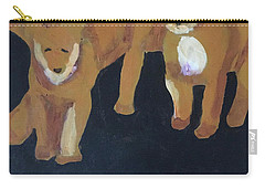 Carry-all Pouch featuring the painting Lioness' Pride 5 Of 6 by Donald J Ryker III