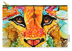 Lion's Head Gold Carry-all Pouch