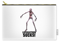Liposuction Sucks Carry-all Pouch by Esoterica Art Agency