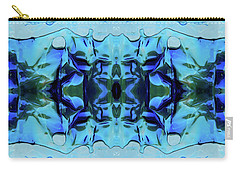 Carry-all Pouch featuring the digital art Liquid Abstract #0059-1 by Barbara Tristan