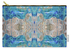 Carry-all Pouch featuring the digital art Liquid Abstract  #0060-2 by Barbara Tristan