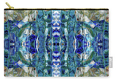 Carry-all Pouch featuring the digital art Liquid Abstract #0061-2 by Barbara Tristan