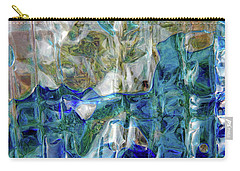 Carry-all Pouch featuring the photograph Liquid Abstract #0061 by Barbara Tristan