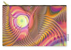 Carry-all Pouch featuring the digital art Liquid Rainbow by Anastasiya Malakhova