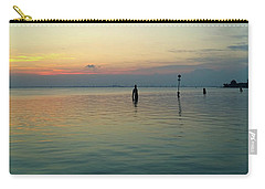 Carry-all Pouch featuring the photograph Liquid Sunset by Anne Kotan