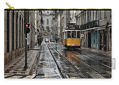 Carry-all Pouch featuring the photograph Lisbon Streets by Jorge Maia