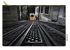 Lisbon Tram Carry-all Pouch by Jorge Maia