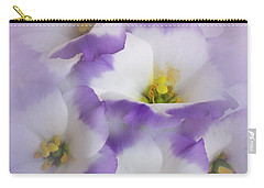 Carry-all Pouch featuring the photograph Lisianthus Grouping by David and Carol Kelly