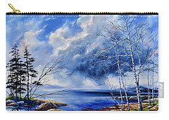 Carry-all Pouch featuring the painting Listen To The Rhythm by Hanne Lore Koehler