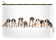 Litter Of Boxer Puppies Carry-all Pouch by Diane Diederich