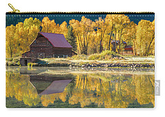 Little Barn By The Lake Carry-all Pouch by Teri Virbickis