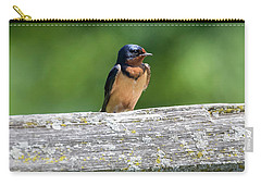 Carry-all Pouch featuring the photograph Little Barn Swallow by Ricky L Jones