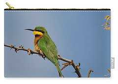 Carry-all Pouch featuring the photograph Little Bee-eater by Betty-Anne McDonald