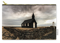 Little Black Church Carry-all Pouch