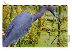 Little Blue Heron Feeding Carry-all Pouch
