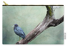 Little Blue Heron On Green Carry-all Pouch