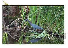 Carry-all Pouch featuring the photograph Little Blue Heron by Sandy Keeton