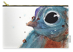 Carry-all Pouch featuring the painting Little Bluebird by Dawn Derman
