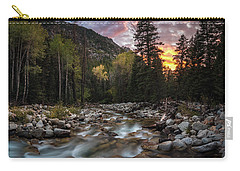Little Cottonwood Creek Fall Sunset Carry-all Pouch