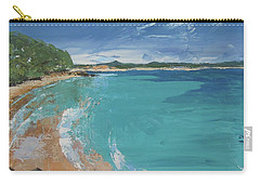 Carry-all Pouch featuring the painting Little Cove View by Chris Hobel