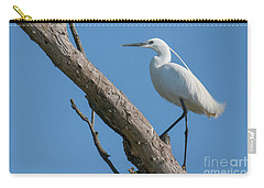 Little Egret Carry-all Pouch by Jivko Nakev