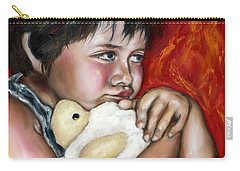 Carry-all Pouch featuring the painting Little Fighter by Hiroko Sakai
