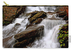 Carry-all Pouch featuring the photograph Little Four Mile Run Falls by Suzanne Stout