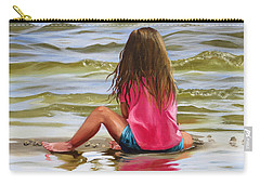 Little Girl In The Sand Carry-all Pouch