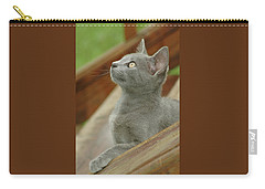 Little Gray Kitty Cat Carry-all Pouch