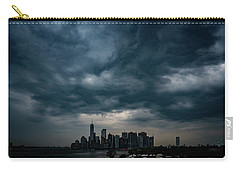 Carry-all Pouch featuring the photograph Little Manhattan Under A Cloud by Chris Lord