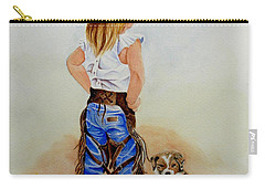 Little Miss Big Britches Carry-all Pouch by Jimmy Smith