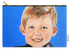 Carry-all Pouch featuring the painting Little Mister G by Betty-Anne McDonald