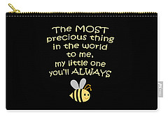 Little One You'll Always Bee Print Carry-all Pouch