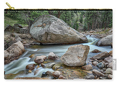 Carry-all Pouch featuring the photograph Little Pine Tree Stream View by James BO Insogna