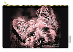 Carry-all Pouch featuring the photograph Little Powder Puff by Kathy Tarochione